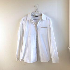 Lafayette 148 white buttoned down shirt sz:S